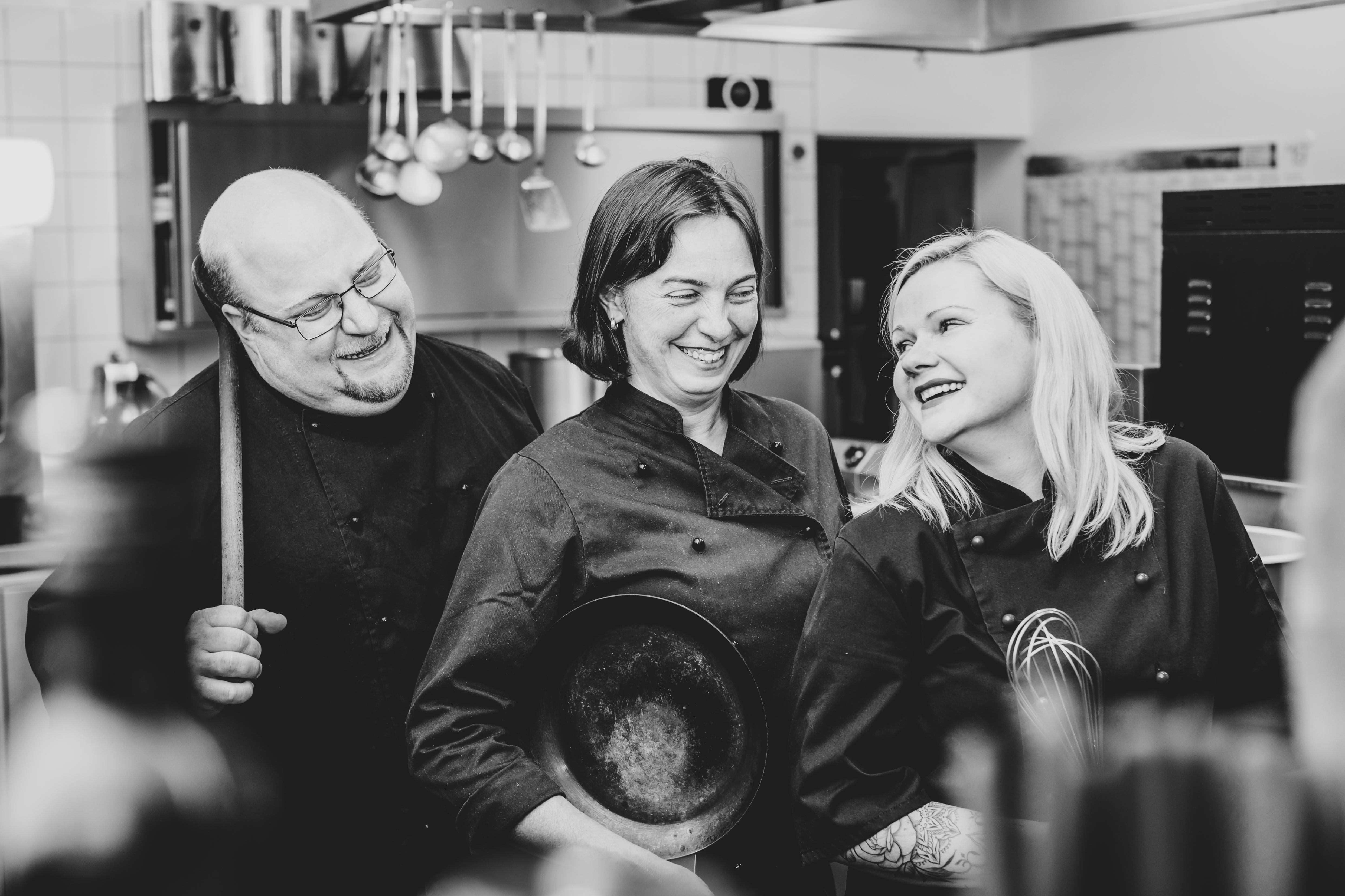 Das Lahnerstubn-Küchen-Team. Foto: Michaela Klose