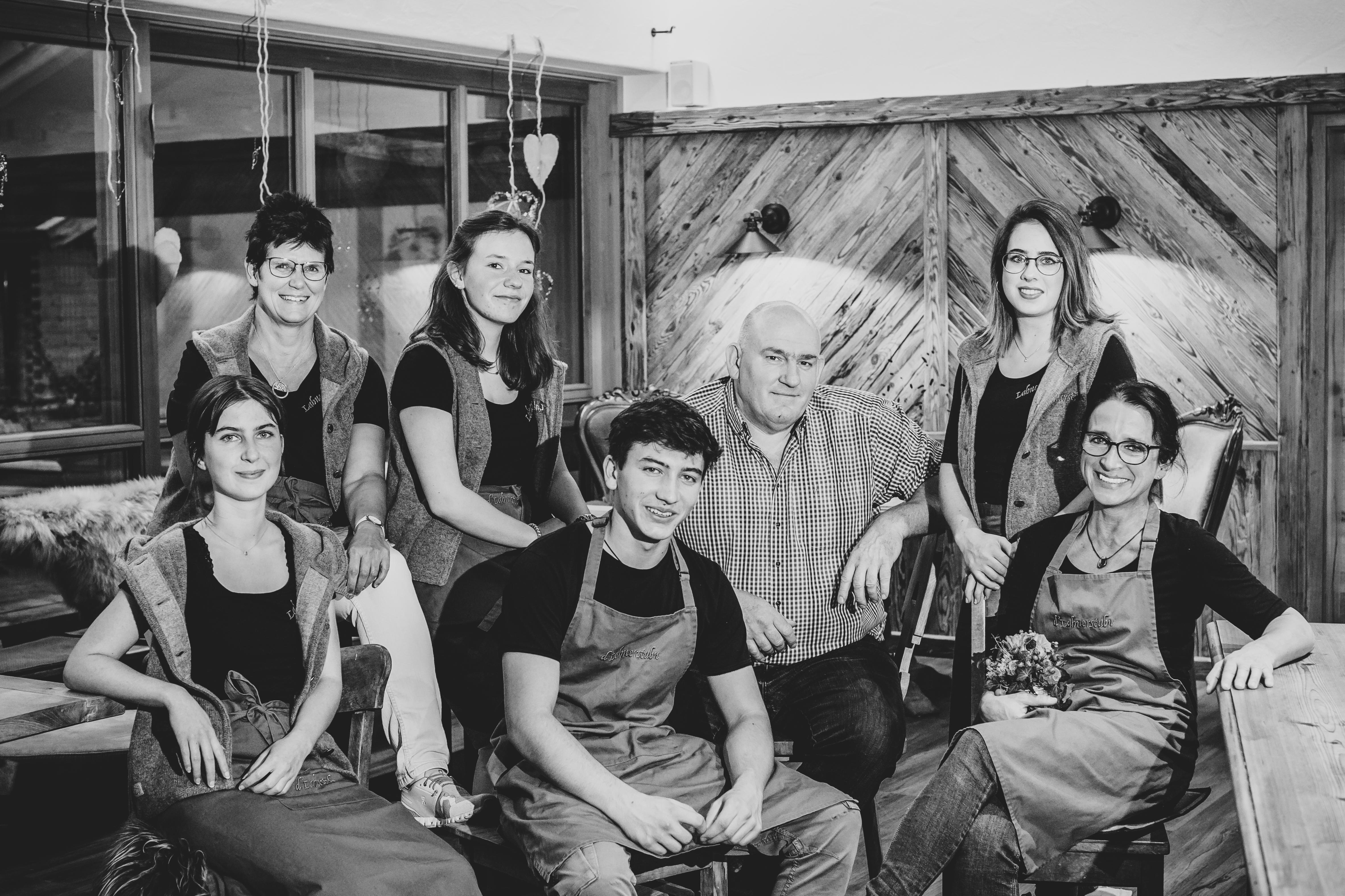 Das Lahnerstubn-Service-Team. Foto: Michaela Klose